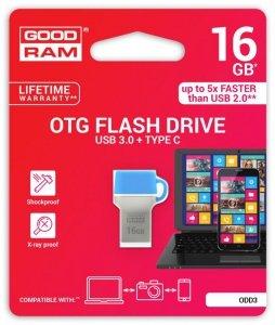 Pendrive GOODRAM DUALDRIVE 32GB USB 3.0 / TYPE C RETAIL 10