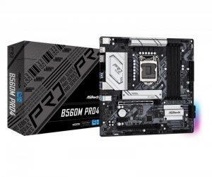 Płyta ASRock B560M Pro4 /B560/DDR4/SATA3/M.2/USB3.0/PCIe4.0/s.1200/mATX