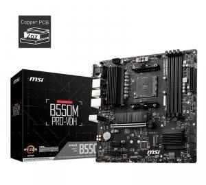 Płyta MSI B550M PRO-VDH /AMD B550/DDR4/SATA3/M.2/USB3.1/PCIe4.0/AM4/mATX