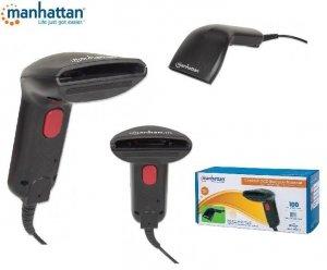 Skaner kodów kreskowych USB Manhattan, kontaktowy