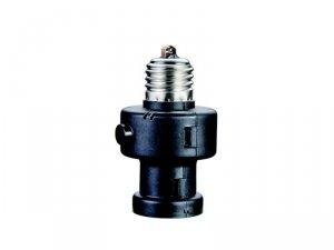 Oprawa żarówki E27 Maclean MCE21 B z czujnikiem zmierzchu oraz timerem 100W