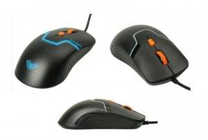 Mysz przewodowa Acme Aula Rigel optyczna Gaming czarno-pomarańczowa