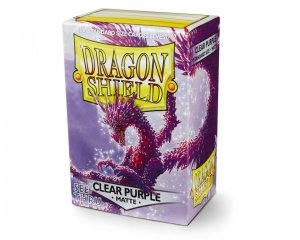 Koszulki Dragon Shield Standard Sleeves - Matte Clear Purple (100 Sleeves)