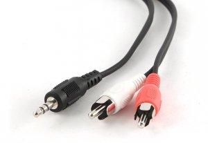 Kabel minijack 3,5mm do 2XRCA, M/M 1.5m