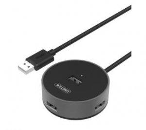 Unitek Hub 4x USB 2.0, Alu., Y-2179B