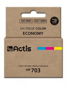 Tusz ACTIS KH-703CR (zamiennik HP 703 CD888AE; Standard; 12 ml; kolor)