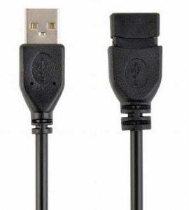 Przedłużacz kabla USB 2.0 0.15m, czarny