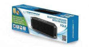 ESPERANZA EP126KE - 5901299940303 ESPERANZA EP126KE FOLK - GŁOŚNIK BLUETOOTH Z WBUDOWANYM RADIEM FM