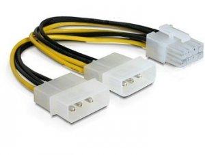 Kabel rozdzieląjcy zasilanie 2xHDD/1x.e8pin