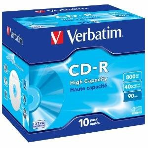Verbatim CD-R [ jewel case 10 | 800MB | 40x | DataLife ]