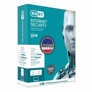 ESET Internet Security dla 1 komputera, 12 m-cy, BOX