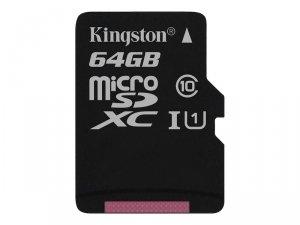 Kingston 64GB microSDXC CL10 100MB/s+ SD Adapter