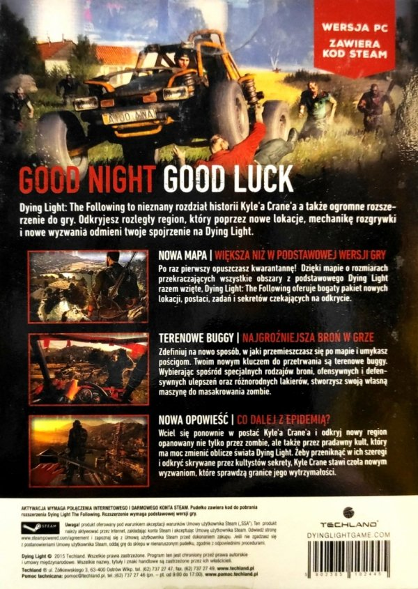 DYING LIGHT THE FOLLOWING   PC