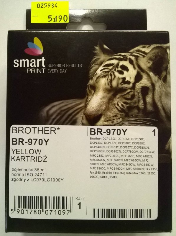 BROTHER LC970 YELLOW     smart PRINT