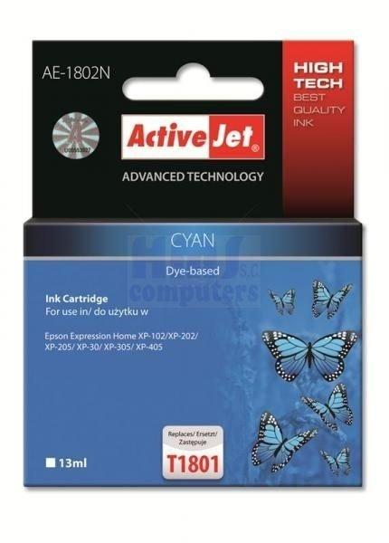 Tusz CYAN zamiennik Epson T1802 XP-102/202/305 ActiveJet  AE-1802N