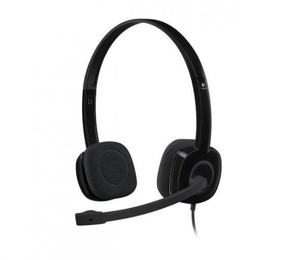 Słuchawki z mikrofonem Logitech H151 czarne