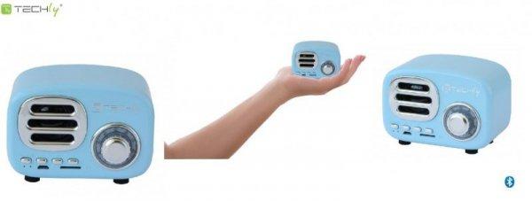 Głośnik Bluetooth Techly Retro Niebieski