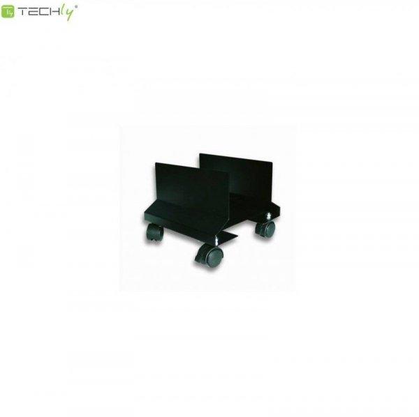 Podstawka pod obudowę PC Techly na kółkach, czarna