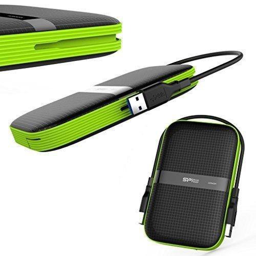 Dysk zewnętrzny Silicon Power ARMOR A60 4TB USB 3.0 BLACK-GREEN/PANCERNY wstrząso/pyło i wodoodporny IPX4