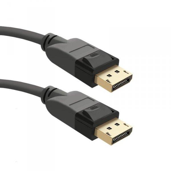 Kabel DisplayPort v1.3 Qoltec męski / DisplayPort v1.3 męski | 5Kx3K | 3m