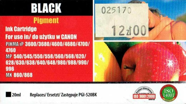 CANON PGI-520BK      ACTIVEJET