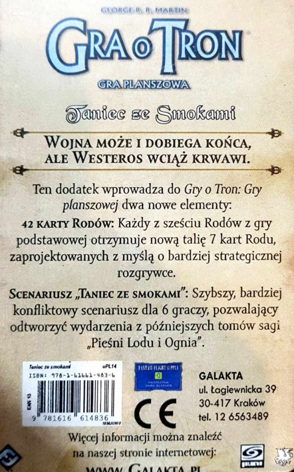 GRA O TRON - TANIEC ZE SMOKAMI (2 ED.) GP