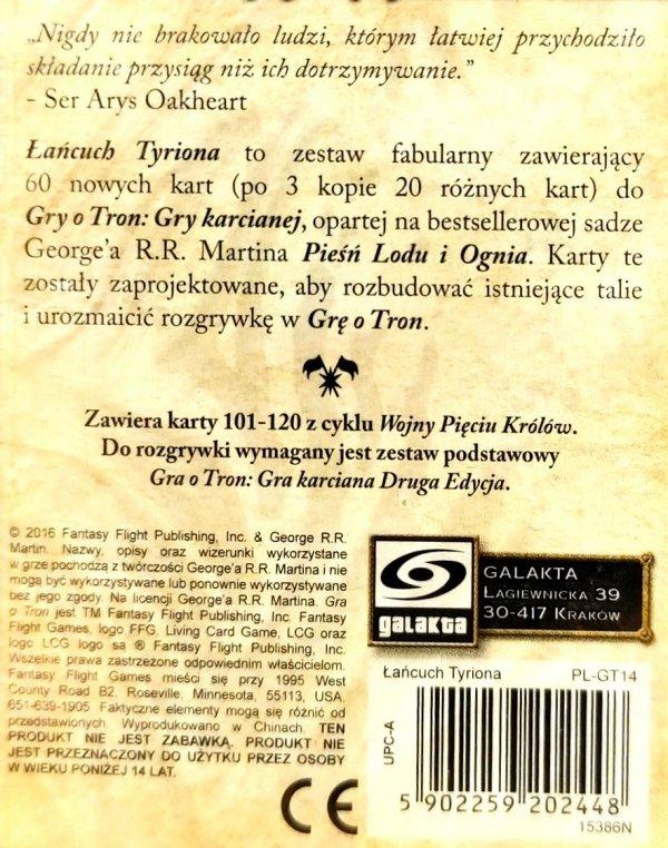 GRA O TRON: GRA KARCIANA 2 ED. CYKL WOJNY PIĘCIU KRÓLÓW – ŁAŃCUCH TYRIONA