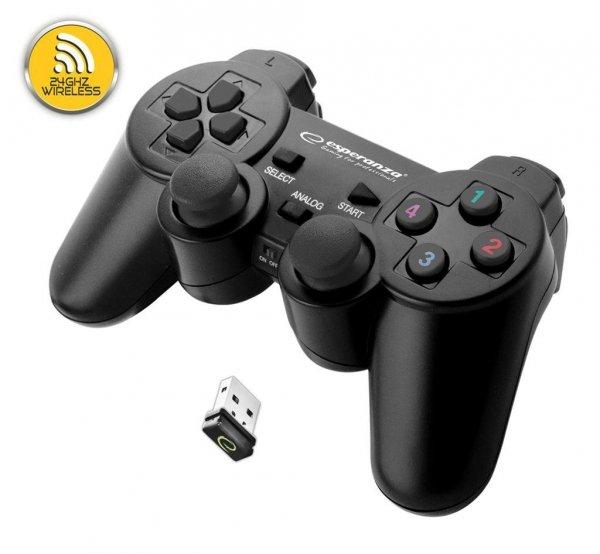 ESPERANZA EGG108K GLADIATOR - GAMEPAD Z WIBRACJAMI BEZPRZEWODOWY DLA PC / PS3