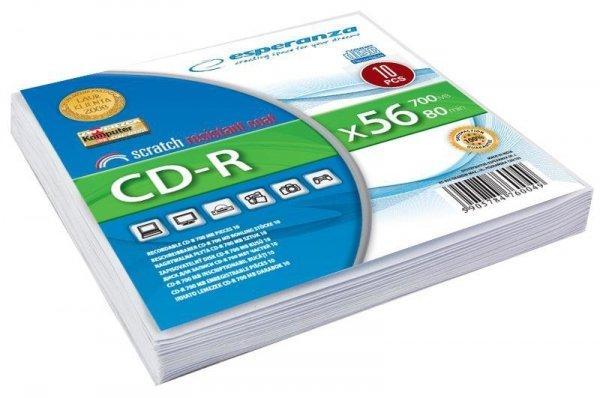 CD-R ESPERANZA [ koperta 10   700MB   52x   Silver ]