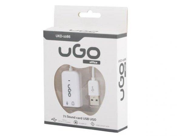 NATEC UKD-1086 UGO karta dźwiękowa na kablu 7.1 (virtual) USB 2.0