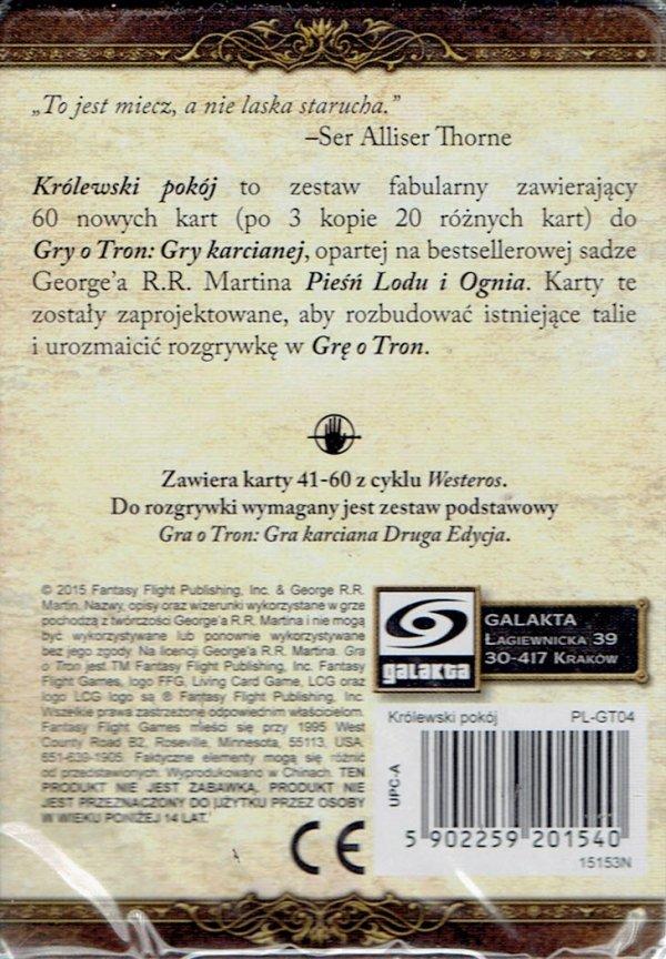 GRA O TRON: GRA KARCIANA 2 ED. CYKL WESTEROS KRÓLEWSKI POKÓJ