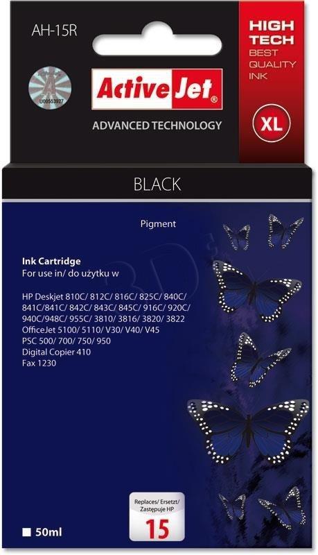 Tusz czarny do drukarki HP (zamiennik HP 15 C6615N) ActiveJet AH-15R (AH-615)