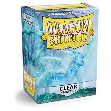 Koszulki Dragon Shield Standard Sleeves - Matte Clear (100 Sleeves)
