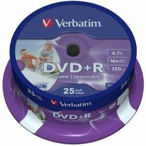 DVD+R VERBATIM PRINTABLE  SPIN