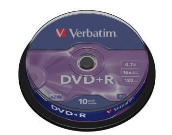 DVD+R VERBATIM 4.7GB   SPINx10