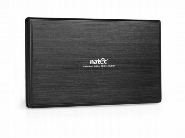 "Kieszeń zewnętrzna HDD sata NATEC RHINO 2,5"""" USB 3.0 Aluminium Black"