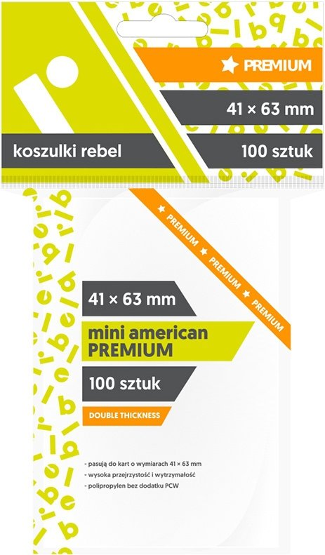 "Koszulki Rebel (41x63 mm) ""Mini American Premium"" 100 sztuk"