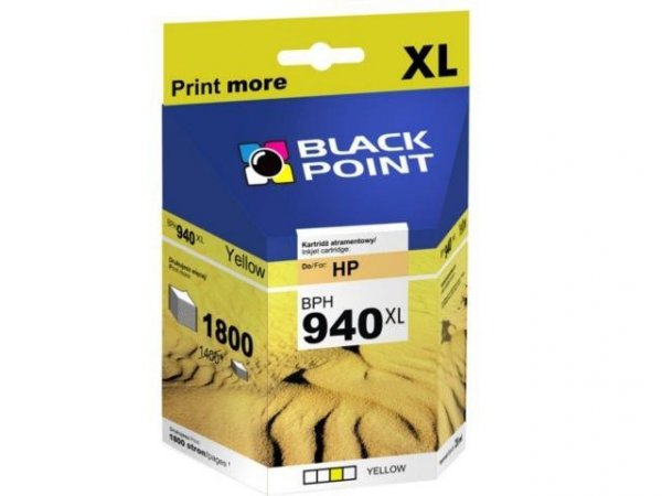 BLACK POINT HP TUSZ C4909AE/940XL OFFICEJET PRO 8000 YELLOW (C4909AE/BPH940XLY)