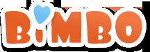 Logo sklepu z zabawkami Bimbo. Z miłości do dzieci