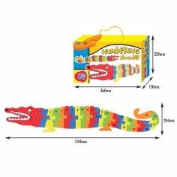 Puzzle numerowane - Krokodyl
