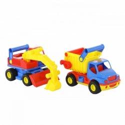 WADER 0452  Samochód-wywrotka + koparka kołowa