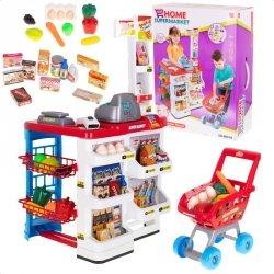 Supermarket Kasa fiskalna sklep wózek + akcesoria