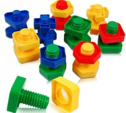 Klocki konstrukcyjne edukacyjne śruby montessori 30 elementów