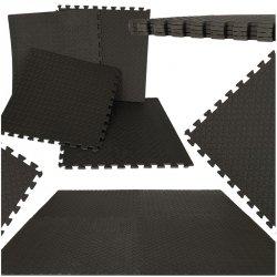 Puzzle piankowe mata dla dzieci czarne 60x60 4szt