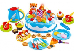 Tort Urodzinowy do Krojenia Kuchnia 80 el. Niebie