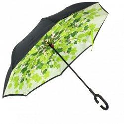 Parasol odwrotnie otwierany składany liście drzewo