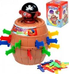 Gra zręcznościowa Szalony Pirat w beczce Ukłuj pirata 9 x 9 x 12,5 cm