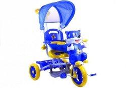 Rower Trójkołowy Kotek Niebieski Dla Dzieci Rowerek