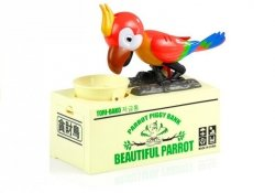 Skarbonka Papuga Zjada Monety Nauka Oszczędzania
