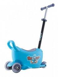 SNOOP! 3w1- jeździk, hulajnoga, kuferek - NIEBIESKI- Pobudzi wyobraźnię Małego Odkrywcy
